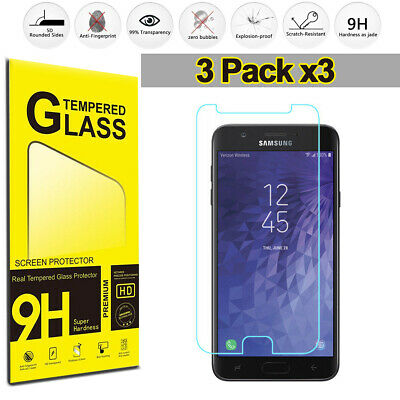 Samsung Galaxy J7 2018 2017 (3-Pack) Tempered Glass Film Screen Protector Clear