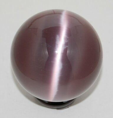 Cat's Eye 60mm Sphere Ball Globe Orb w/Stand, Purple, New, USA Seller