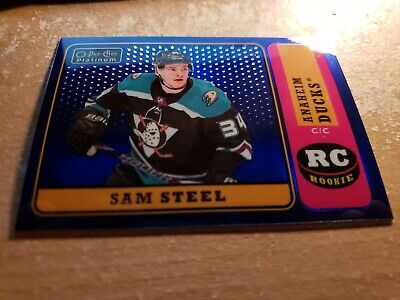 O-Pee Chee Platinum 2018-19  Sam Steel RC Retro Blue Rainbow 083 /149 R-86
