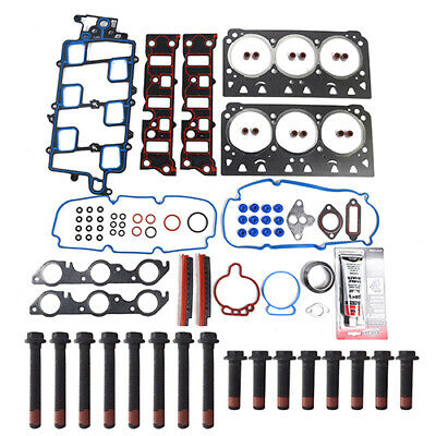 Cylinder Head Gasket Bolts Set Kit For 97-05 Buick Chevrolet GM 3.8L V6 12V
