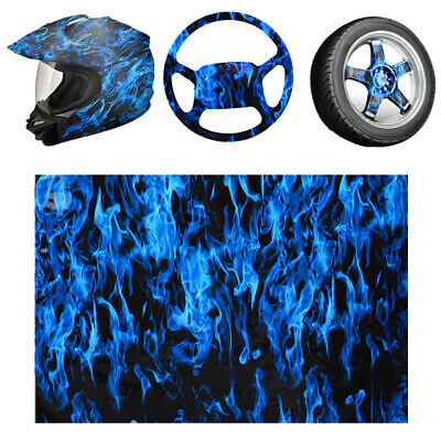 50x100cm PVA Hydrographic Water Printing Transfer Hydro Dipping Film Blue Fire