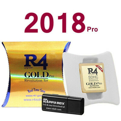 2018 R4 Gold Pro SDHC for DS/3DS/2DS/ Revolution Cartridge With USB Adapter