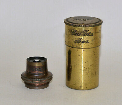 35.0 mm objective lens in can for brass microscope - Carl Zeiss, Jena.