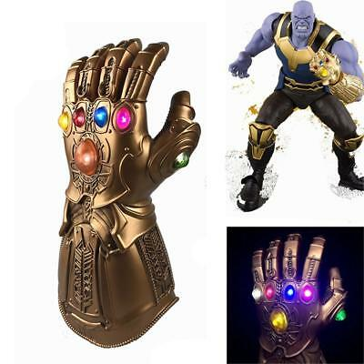 Thanos Avengers Endgame guanto dell'infinito in lattice cosplay LED luce partito