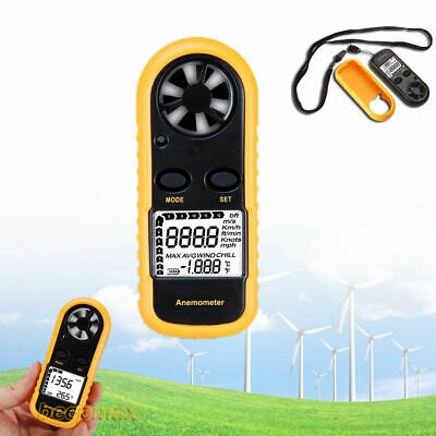 Sailing Lcd Ce Approved Digital Handheld Anemometer Wind Speed Meter Thermometer