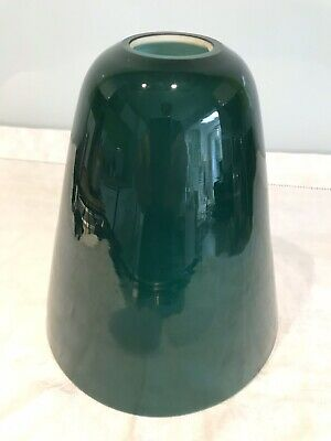 Antique Vintage Cased Green Glass Shade ,desk Light ,lamp