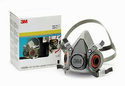 3M 06963 - Large Reusable Low Maintenance Half Face Mask Respirator - UK stock