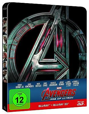 """Marvel's """"AVENGERS - AGE OF ULTRON"""" - Limited 2D + 3D BLU RAY STEELBOOK - 2 Disc"""