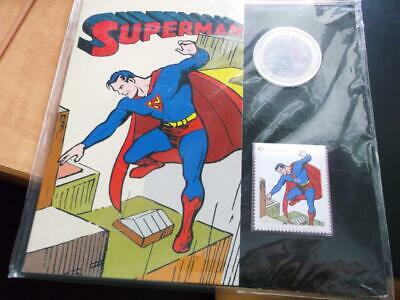 2013 Lenticular Superman Canada 50 Cent Coin & Stamp Sealed Booklet  E1016
