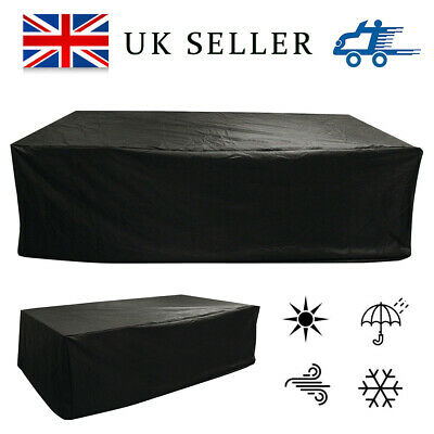 Extra Large Garden Rattan Outdoor Furniture Cover Black Patio Table Protection