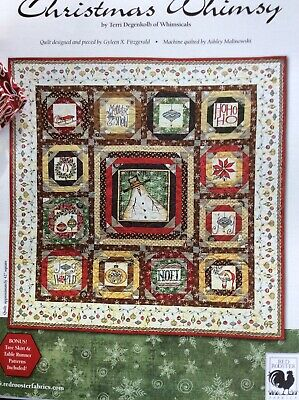 "Christmas Whimsy Block Quilt Kit ( Approximate Size 54"" Square)"