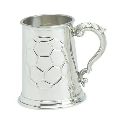 Pewter 1pt  Football Tankard