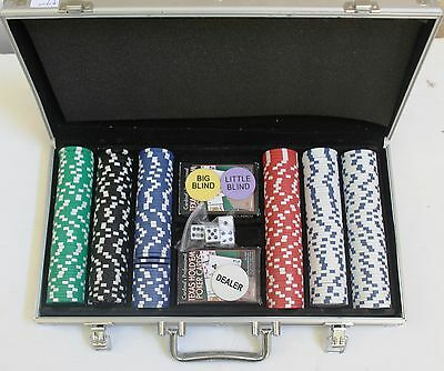 Texas Hold Em Poker Chip Set 300 count With Metal Carry Case 11.5 gram chips