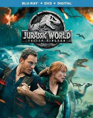 JURASSIC WORLD: FALLEN KINGDOM 2018  Blu-ray + DVD + Digital >NEW<