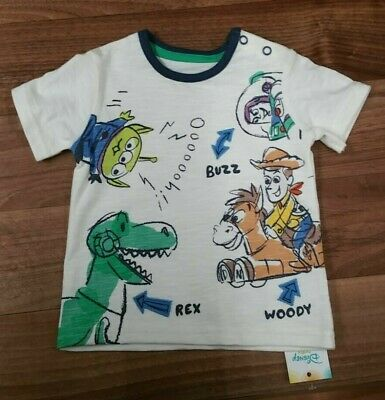 Toy Story 4 Baby Boys T- Shirt Top White NEW 3-18 Moths