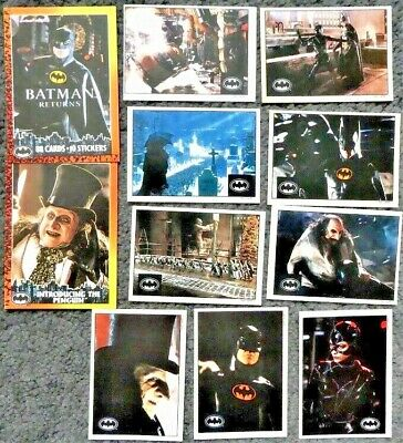 Topps Batman Returns 1992 - 2 Trading Cards and 9 Sticker Cards