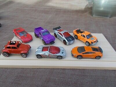 Job Lot Of 7 Assorted Old & New Hot Wheels 12-Used/Mint/Unboxed