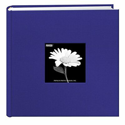Fabric Frame Cover Photo Album 200 Pockets Hold 4x6 Photos, Cobalt Blue