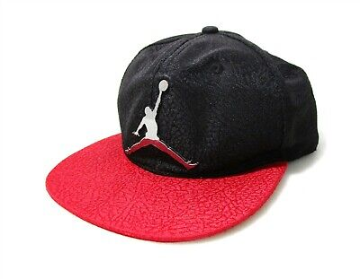 71e2770f026f Nike Air Jordan Black   Red Silver Jumpman Emblem Youth Snapback Cap Hat