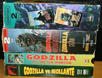 6 Vhs Godzilla Migalon King Monsters Mechagodsilla Gigan Sea Monster Biollante
