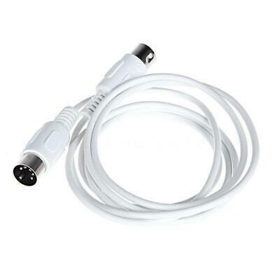 1X(5 broches MIDI DIN PRISE Cable d'Extension Male a Male 3Metre/ 9.8FT Bla 3S8)