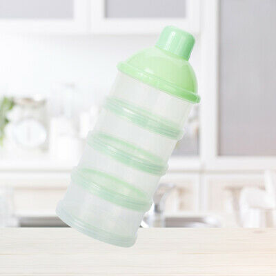 1pc Baby Plastic 4-Layers Baby Feeding Holder Container Dispenser for Todddlers