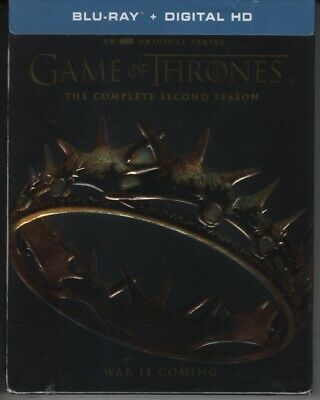 Game of Thrones The Complete Second Season 2 Blu-ray 5-Disc Digital Code NEW
