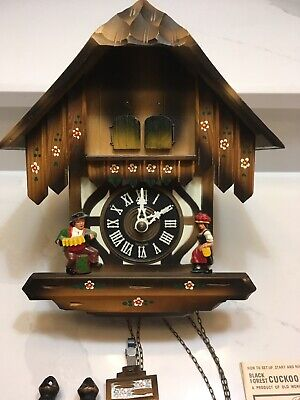 HUBERT HERR German DOUBLE DOOR Chalet CUCKOO CLOCK Black Forest TRIBERG GERMANY