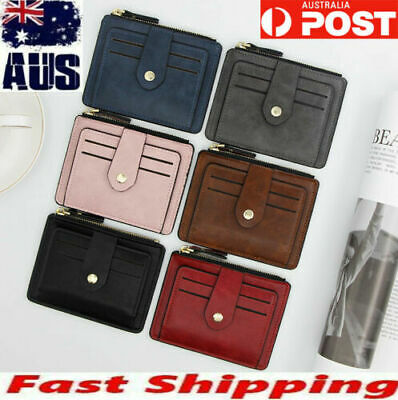 New mens womens leather wallet slim case opal credit card holder from Australia