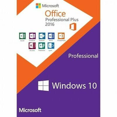PAKET Windows 10 Prof und Microsoft Office 2016 Professional Plus 64Bit x64 Pro