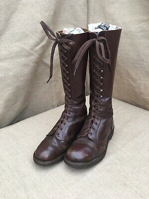 Rare VTG 1960s Brown 16 Hole Dr. Martens Skinhead Boots Made in England