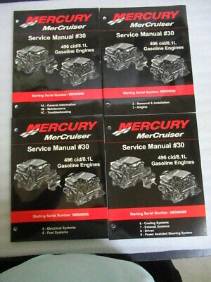 MERCURY OUTBOARD MOTORS All Service Manuals (MerCruiser) - $9 99