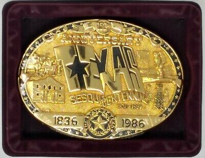 Western Belt Buckle 24Kt. Gold Plate, Serial No. Gift Boxed