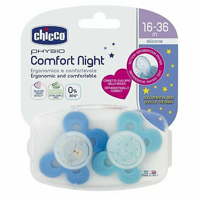 Chicco 00074935420000 Physio Comfort Night Bimbo Succhietto di Silicone, 16 J1Gp