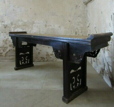 Antique Large 19th Century Chinese Elm Altar Table