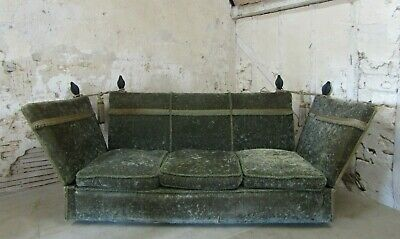 Antique Green Velvet Knole Sofa