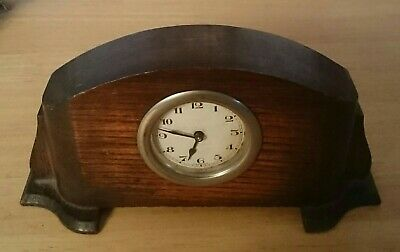 Small Wooden Wind-Up Mantle Clock