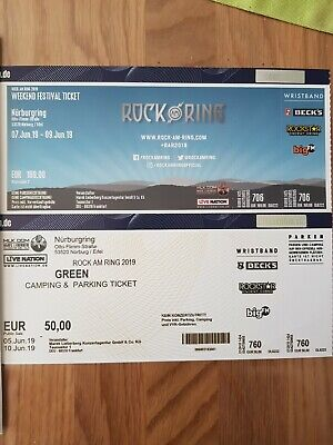 ROCK am RING 2019 Weekend Festival Ticket inkl. GREEN Camping & Parking Ticket