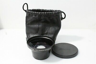 Canon Wide Converter WC-DC58N 0.7X Lens with Cap and Case