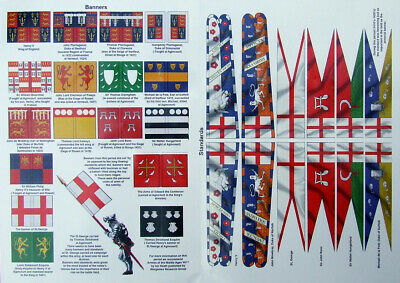 Wargames FLAGS / BANNERS / STANDARDS - Full Colour! 28mm Medieval MULTI CHOICE