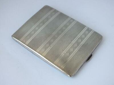 Art Deco Chester 1929 Solid Sterling Silver Cigarette Case/ L 10.5 cm/ 168 g