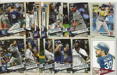 SAN DIEGO PADRES 2019 Topps Big League MASTER TEAM SET w/ Inserts (14 Cards)