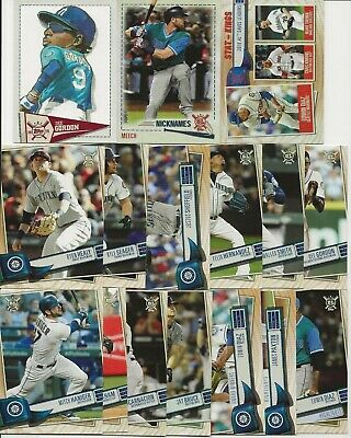 SEATTLE MARINERS 2019 Topps Big League MASTER TEAM SET w/ Inserts-Leaders (16)