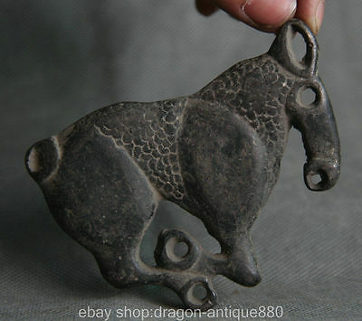 "3 ""Ancient Chinese bronze dynasty palace Zodiac Year Horse statue pendant amulet"