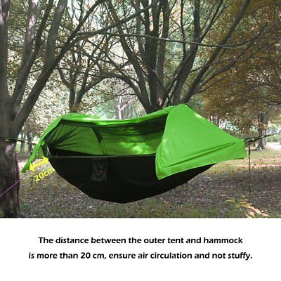 Portable Tent Camping Hammock with Mosquito Net Rain Cover Waterproof Windproof