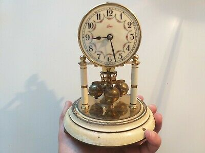 Rare Vintage Antique Kundo 400 Day Anniversary German Clock  - Parts/Repair Tr65