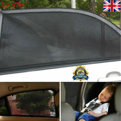 2X Car Sun Mesh Blind Rear Window UV Protector Cover Sun Shade for Baby Kids UK