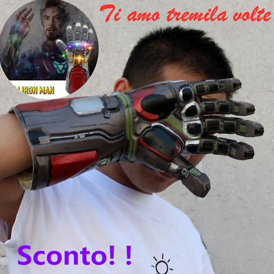 Vendicatori Endgame Infinity Gauntlet Cosplay Iron Man Tony Stark Guanti g8t