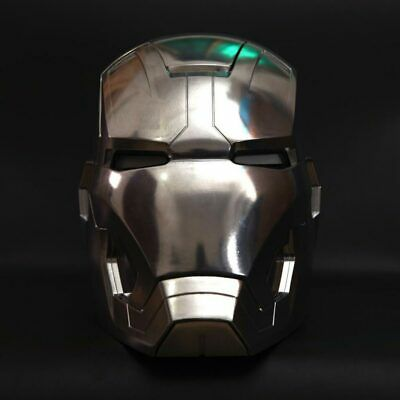 Fine 1:1 Full Metal Polished The Avengers Iron Man MK42 LED eye Helmet Remote