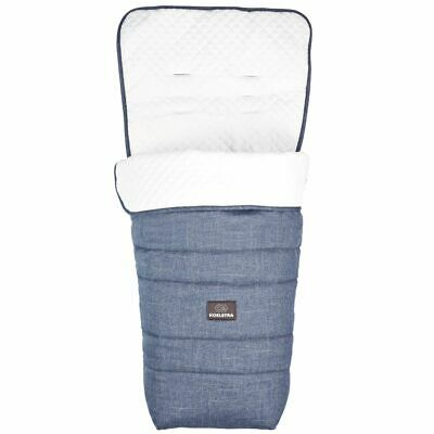 Koelstra Footmuff Rody Special Edition Denim Blue and White Cosytoes 292106207